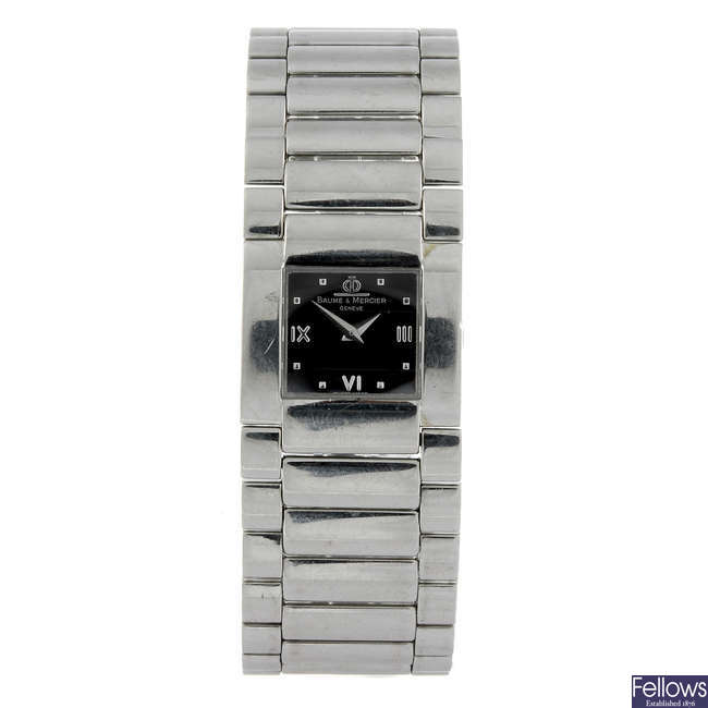 BAUME & MERCIER - a lady's stainless steel Catwalk bracelet watch with another Baume & Mercier watch