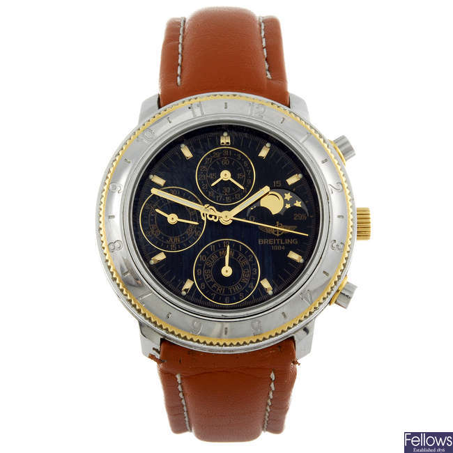 BREITLING - a gentleman's stainless steel Windrider Astromat 1461 chronograph wrist watch.