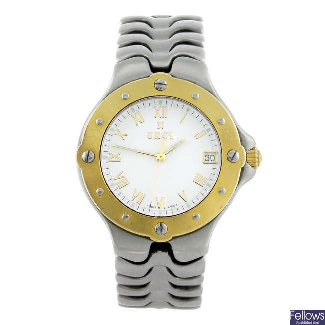 EBEL - a gentleman's bi-colour Sportwave bracelet watch.