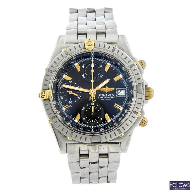 BREITLING - a gentleman's stainless steel Chronomatic chronograph bracelet watch.