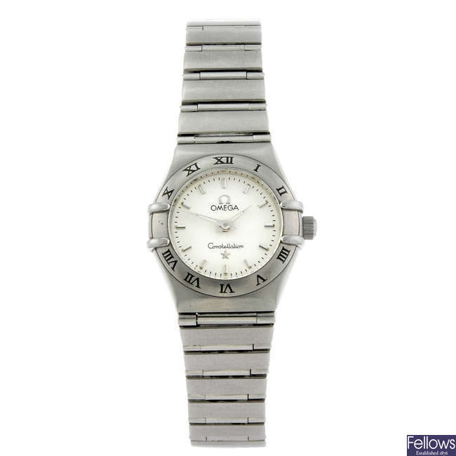 OMEGA - a lady's stainless steel Constellation bracelet watch.