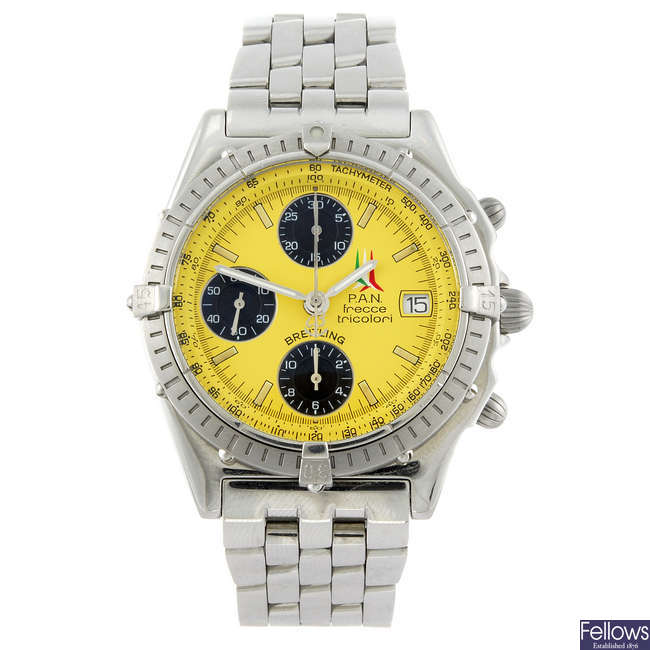 BREITLING - a limited edition stainless steel Chronomat Vitesse chronograph bracelet watch.