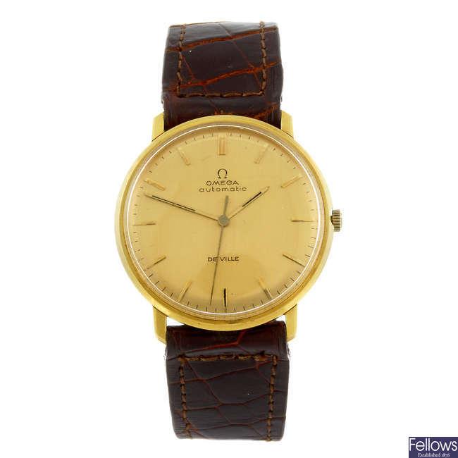 OMEGA - a gentleman's 18ct yellow gold De Ville wrist watch.