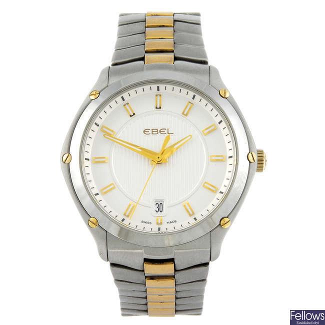 EBEL - a gentleman's bi-colour Classic Sport bracelet watch.