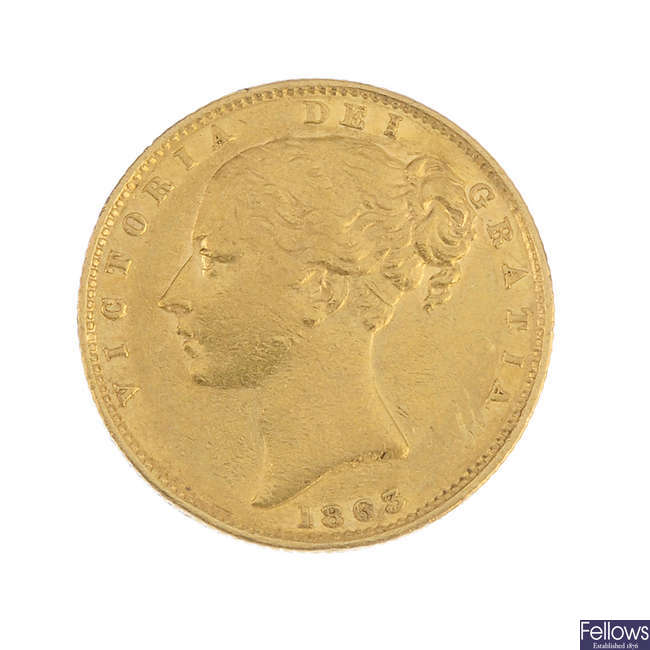 Victoria, Sovereign 1863.