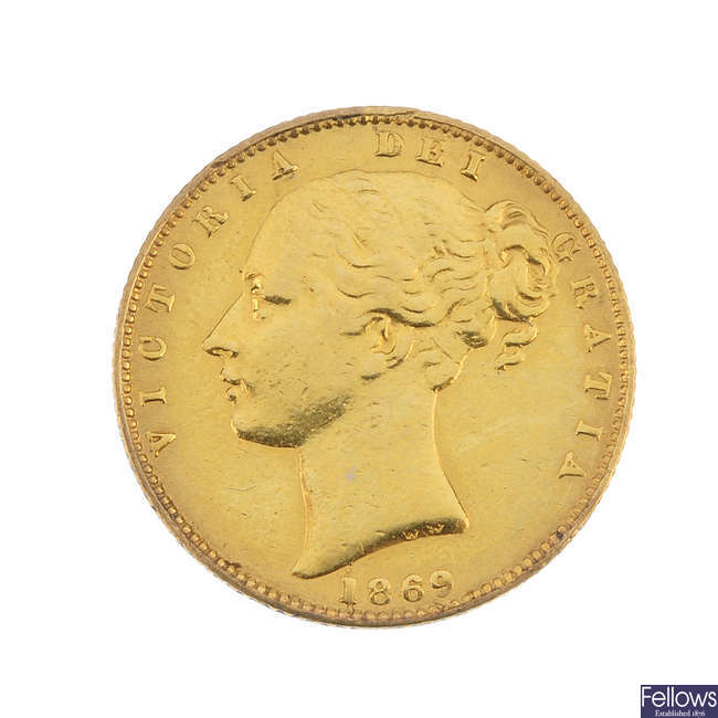 Victoria, Sovereign 1869.