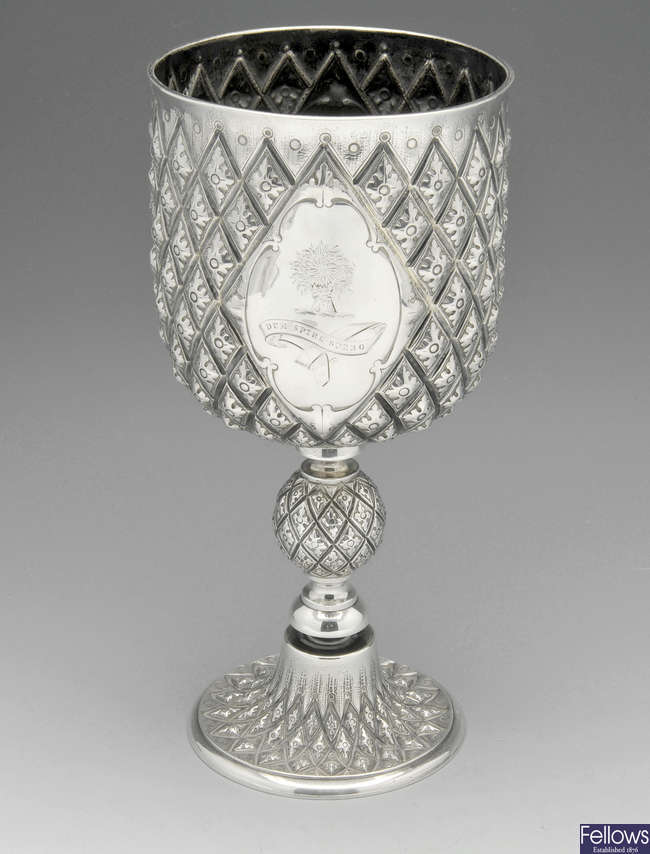 A mid-Victorian Pineapple goblet.