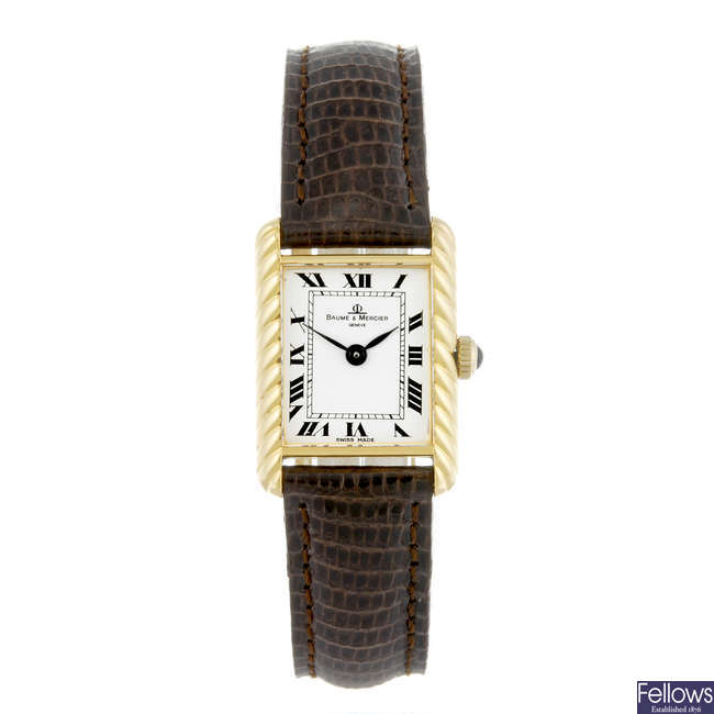 BAUME & MERCIER - a lady's 18ct yellow gold wrist watch.