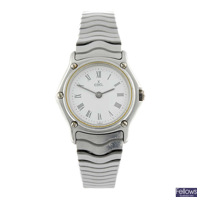 EBEL - a lady's stainless steel Sport Classic bracelet watch.