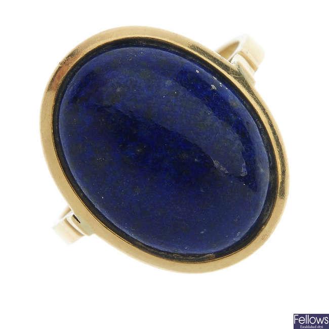 A lapis lazuli ring.