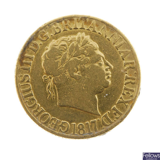 George III, Sovereign 1817.