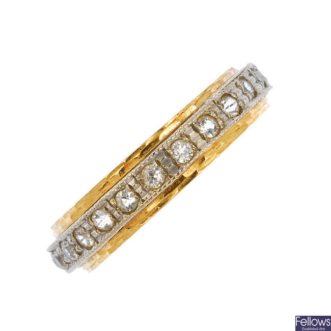 An 18ct gold paste full-circle eternity ring.