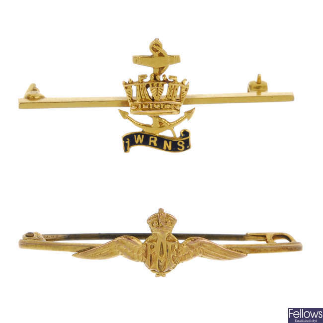 A selection of four military bar brooches.