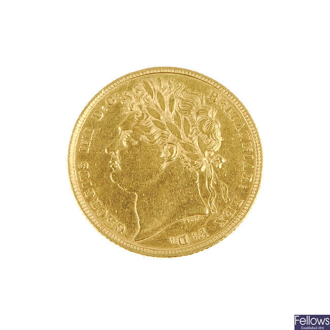 George IV Sovereign 1822.