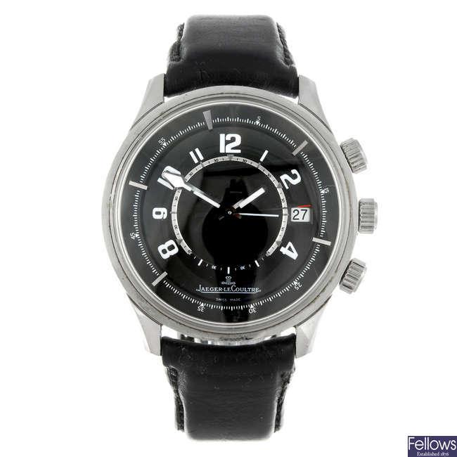 (179697) JAEGER-LECOULTRE - a gentleman's stainless steel AMVOX Alarm wrist watch.