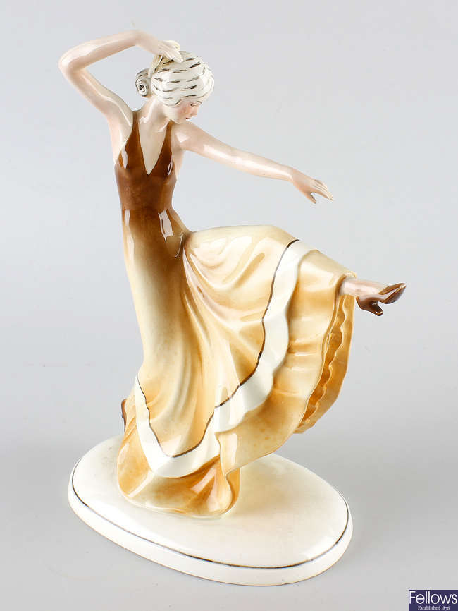 A Katzhutte Art Deco figure.