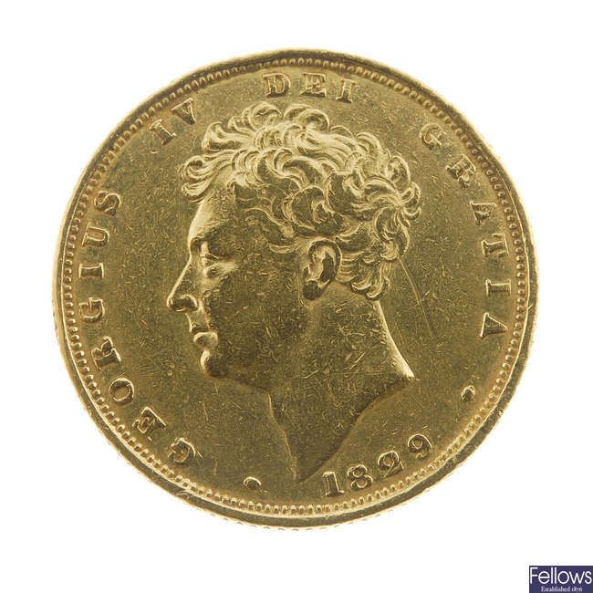 George IV, Sovereign 1829.