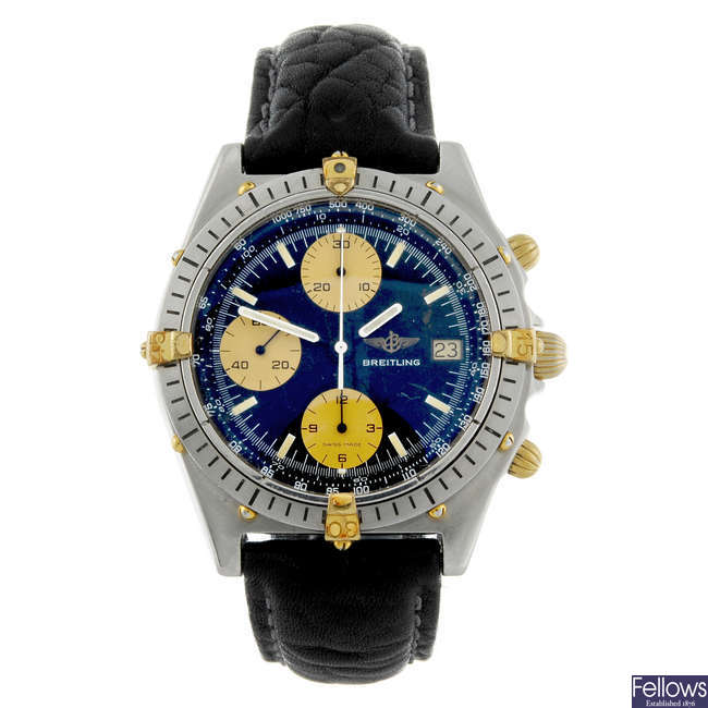 BREITLING - a gentleman's stainless steel Windrider Chronomat chronograph wrist watch.