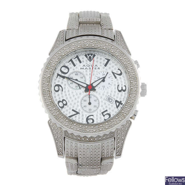 AQUAMASTER - a gentleman's stainless steel chronograph bracelet watch.