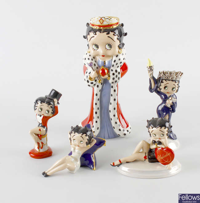 A collection of nineteen Wade C&S Collectables Direct 'Betty Boop' figures.