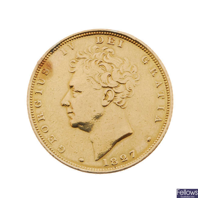 George IV, Sovereign 1827.
