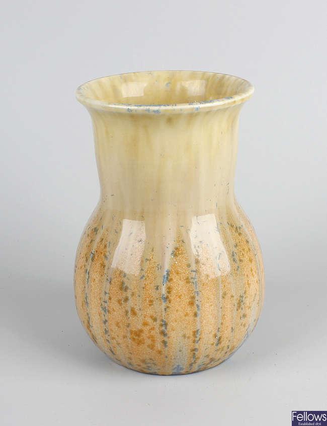 A Ruskin pottery vase.