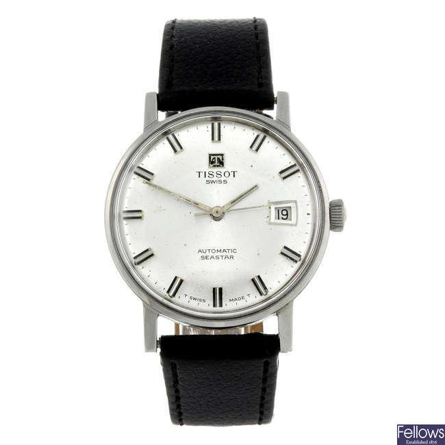 TISSOT - a gentleman's stainless steel Seastar wrist watch together with an Astin watch head.