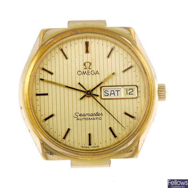 OMEGA - a gentleman's gold plated Seamaster watch head.