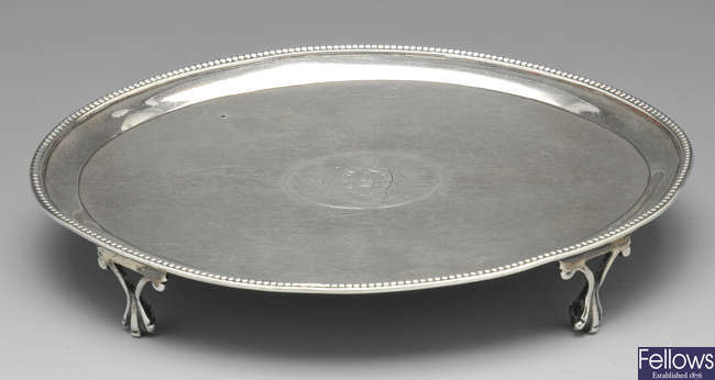A George III silver teapot stand 1783.