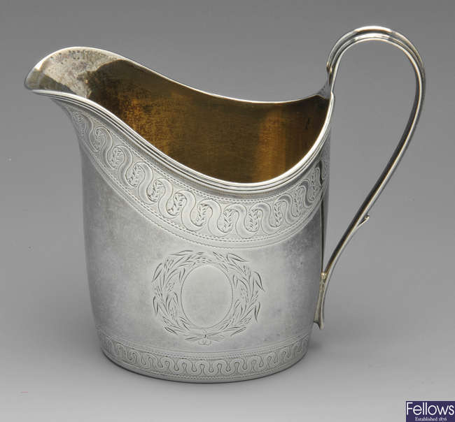 A George III silver cream jug 1795.