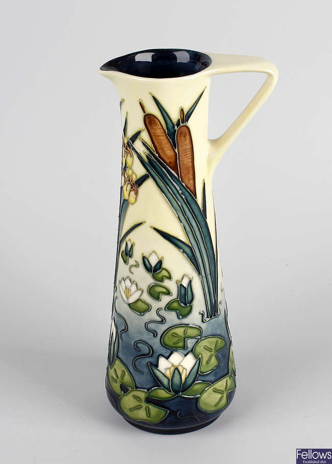 A Moorcroft water lilies ewer.