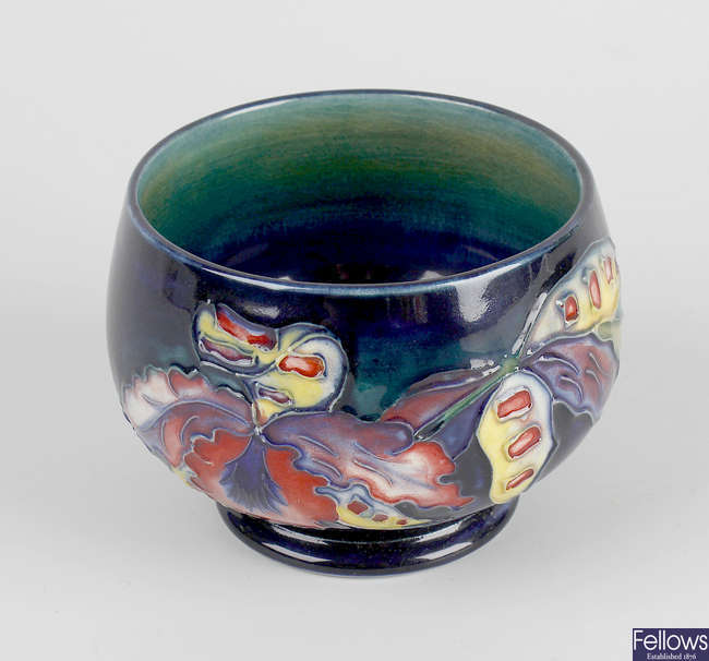 A small Moorcroft footed bowl.