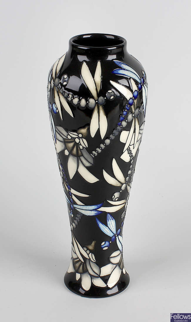 A Moorcroft limited edition dragonfly vase.