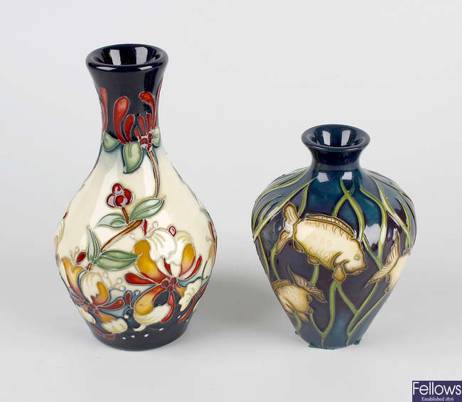 Two small Moorcroft vases.
