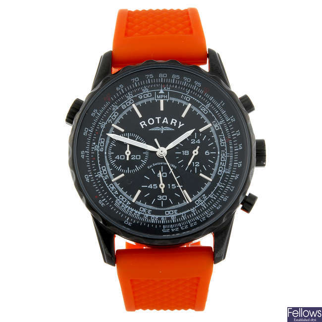 ROTARY - a gentleman's PVD-treated stainless steel chronograph wrist watch.