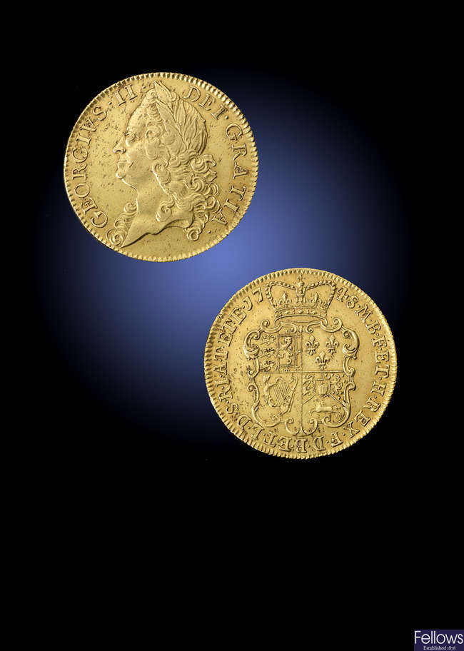 George II, gold Two-Guineas 1748.