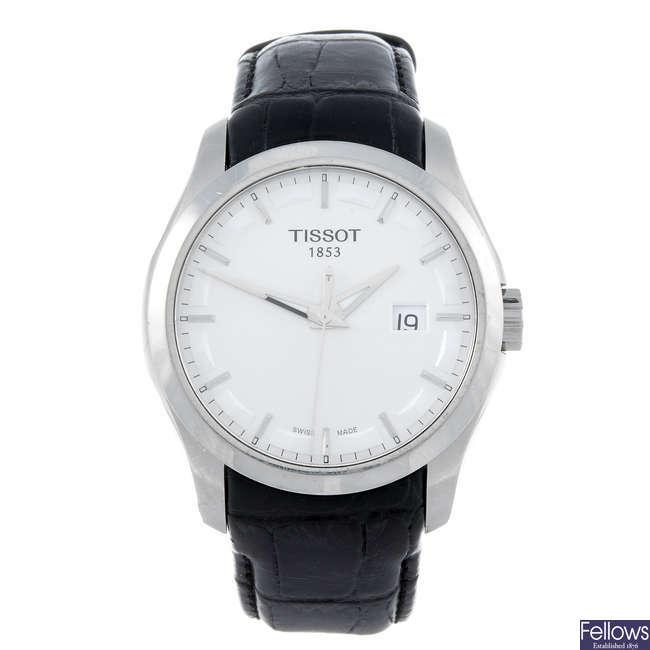 TISSOT - a gentleman's stainless steel T-Trend Couturier wrist watch.
