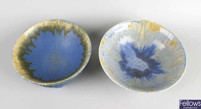 Two Ruskin pottery bowls.