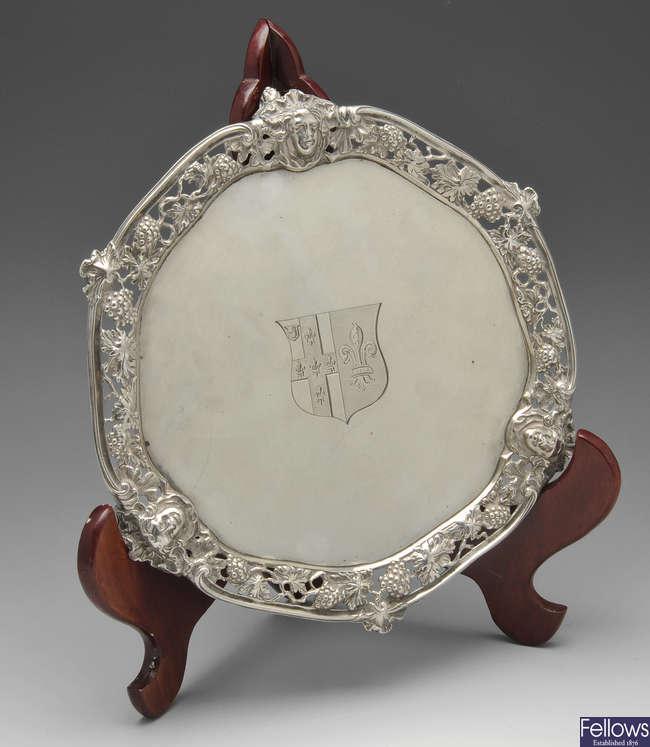 A George II silver salver by William Cripps.