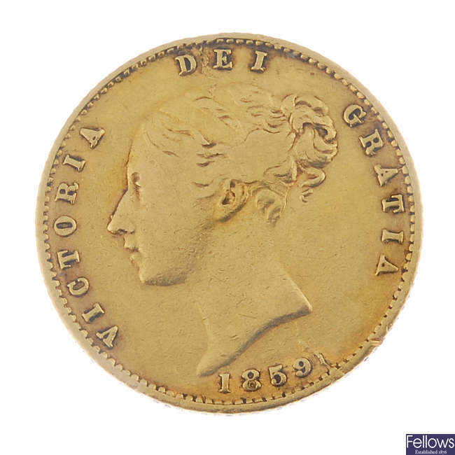 Victoria, Half-Sovereign 1859.