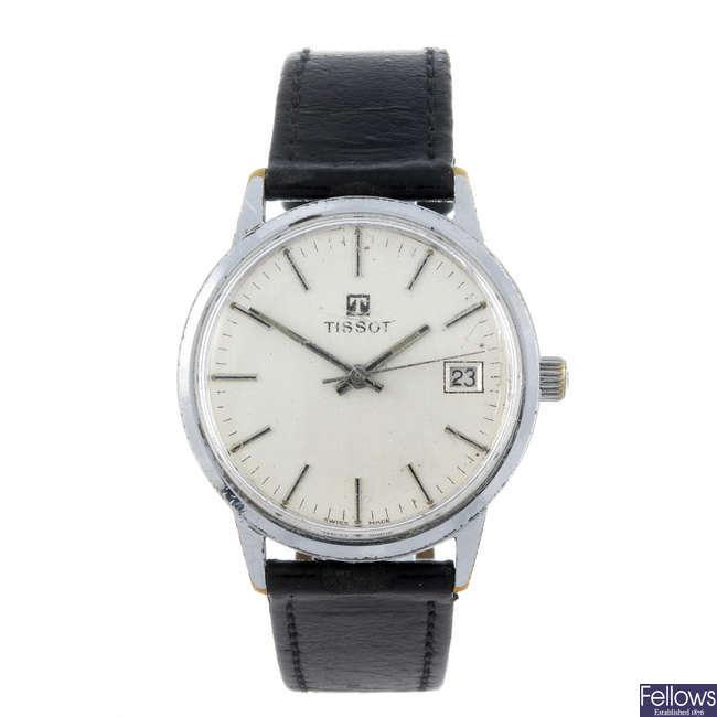 TISSOT - a gentleman's base metal wrist watch with a Tissot Seastar Seven watch head.