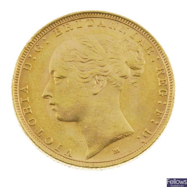 Victoria, Sovereign 1885M.