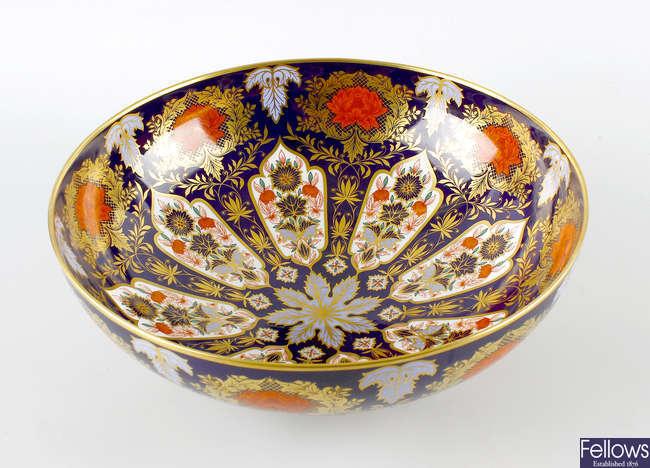 A large Hamilton Derby porcelain bowl.