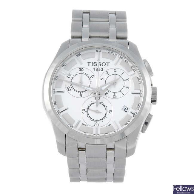 TISSOT - a gentleman's stainless steel 1853 chronograph bracelet watch with a Jaguar bracelet watch.
