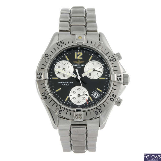 BREITLING - a gentleman's stainless steel Chrono Colt chronograph bracelet watch.