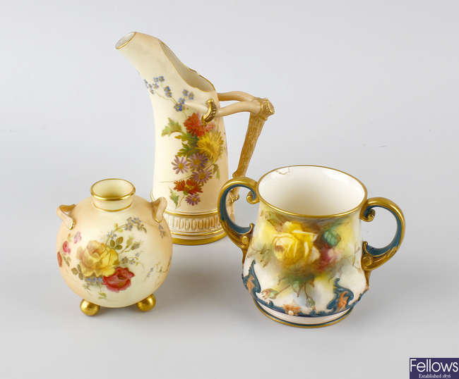 A small group of Royal Worcester porcelain.