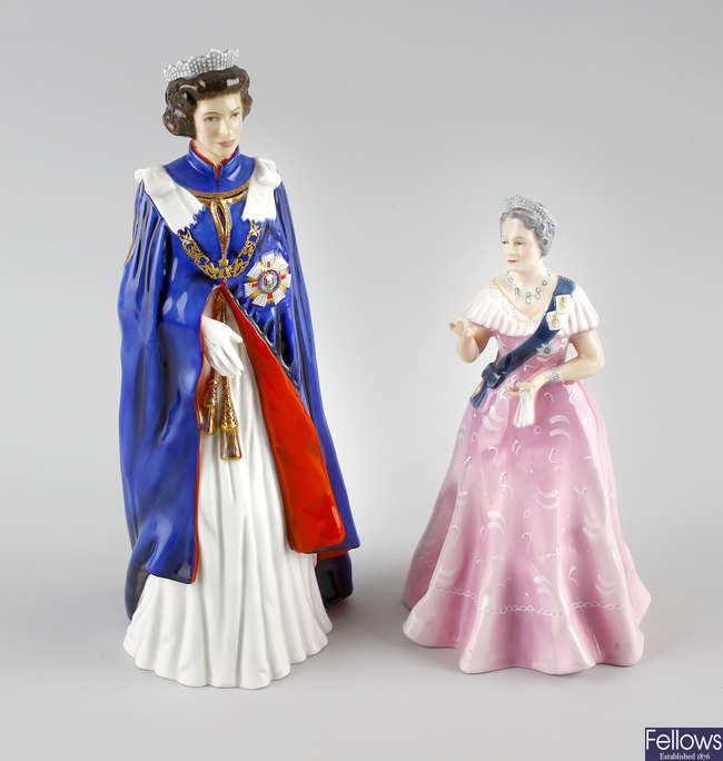 Two limited edition Royal Doulton figures.