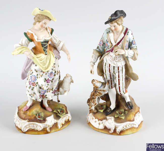 Two 19th century Continental figures.