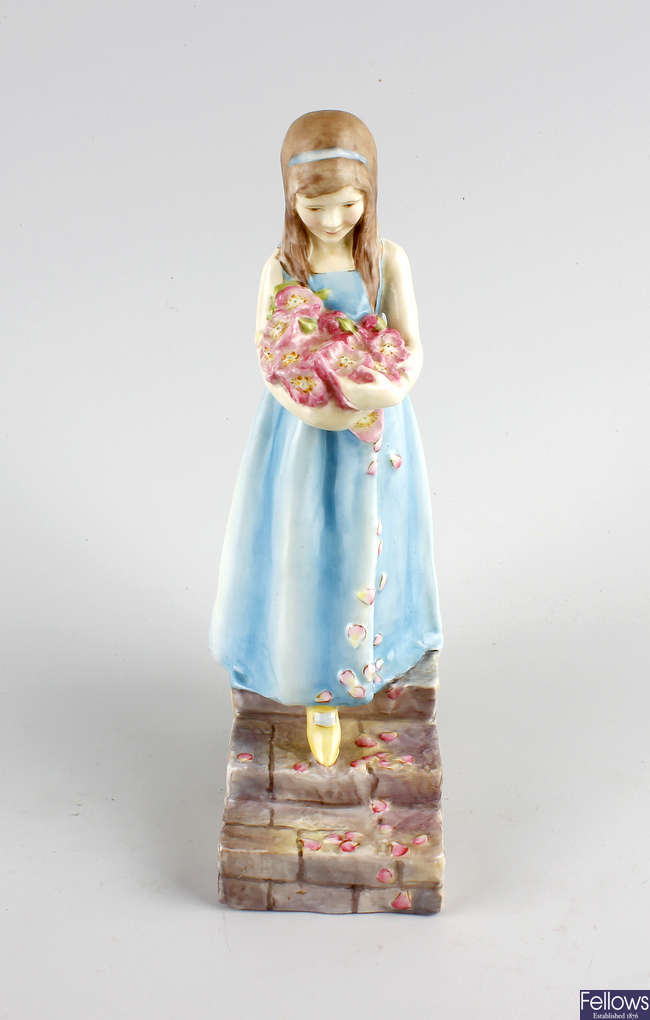 A Royal Worcester figure, 'The Bridesmaid'.