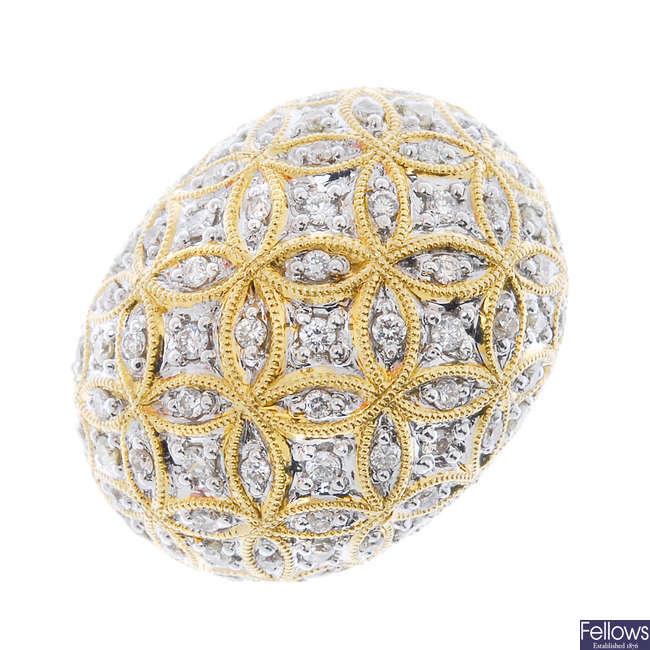 A diamond bombe ring.